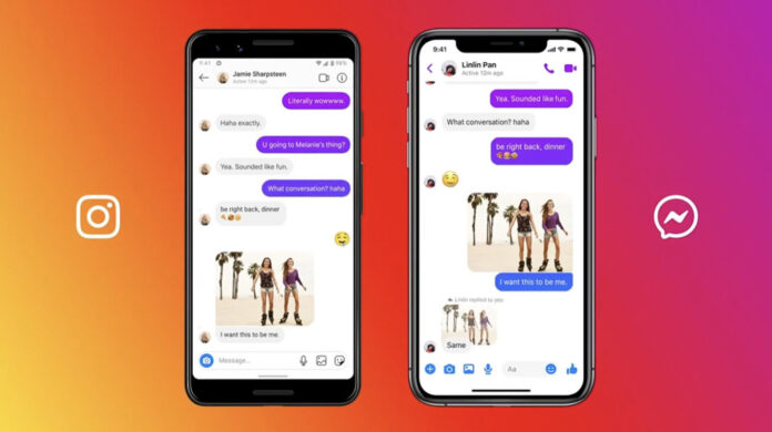 Chat de unificación de Facebook Instagram Messenger